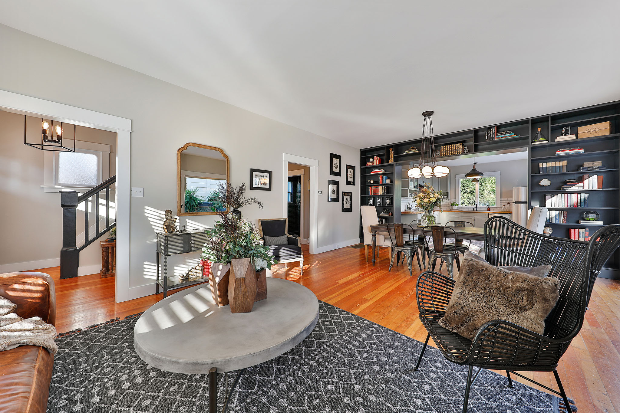 San Francisco Home - dining room and living room