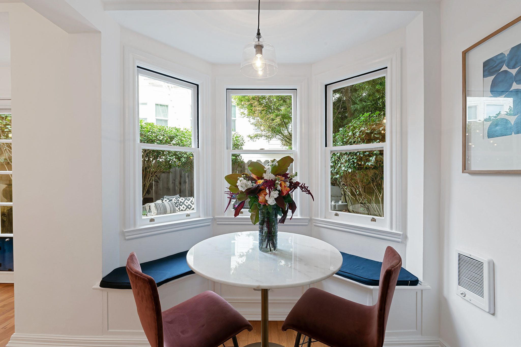 SF Kitchen with banquette seating