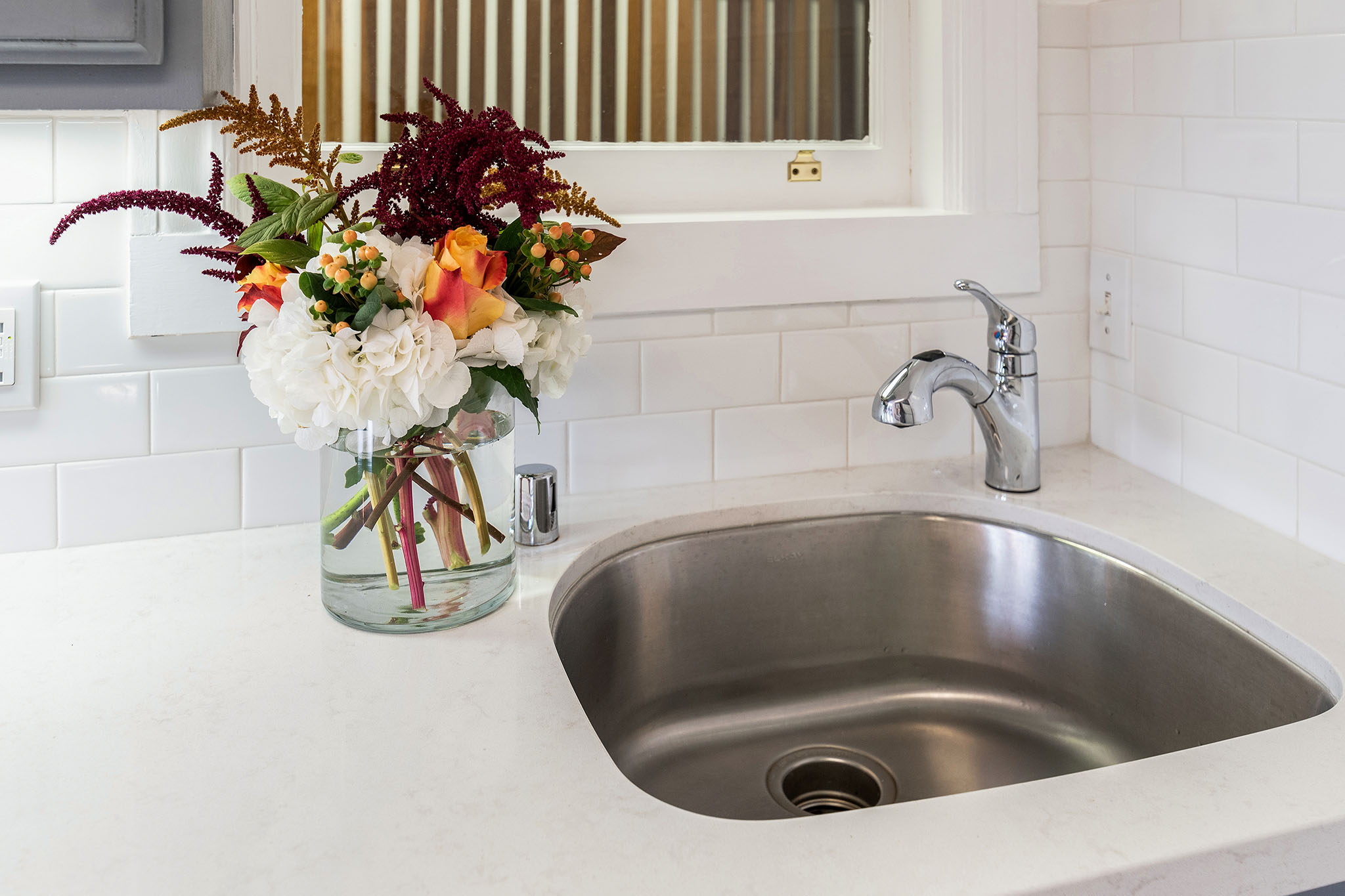 Kitchen sink with flower detail - SF Real Estate