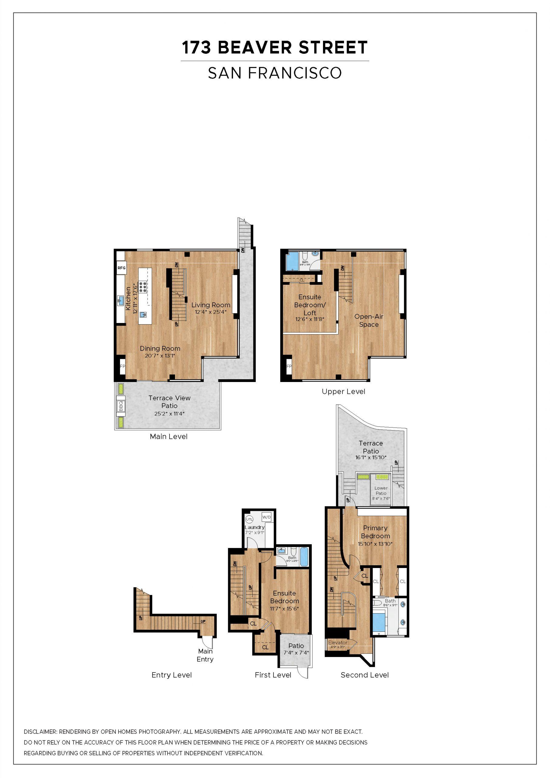 Floor plan of San Francisco home