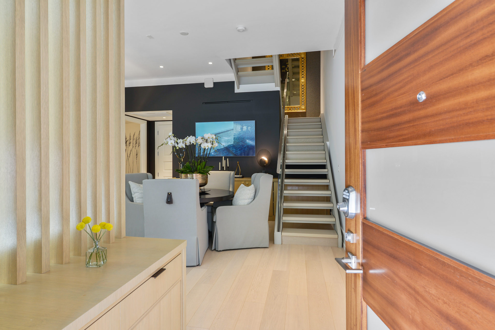 Bay Area Luxury Homes - Living Room and Stairs