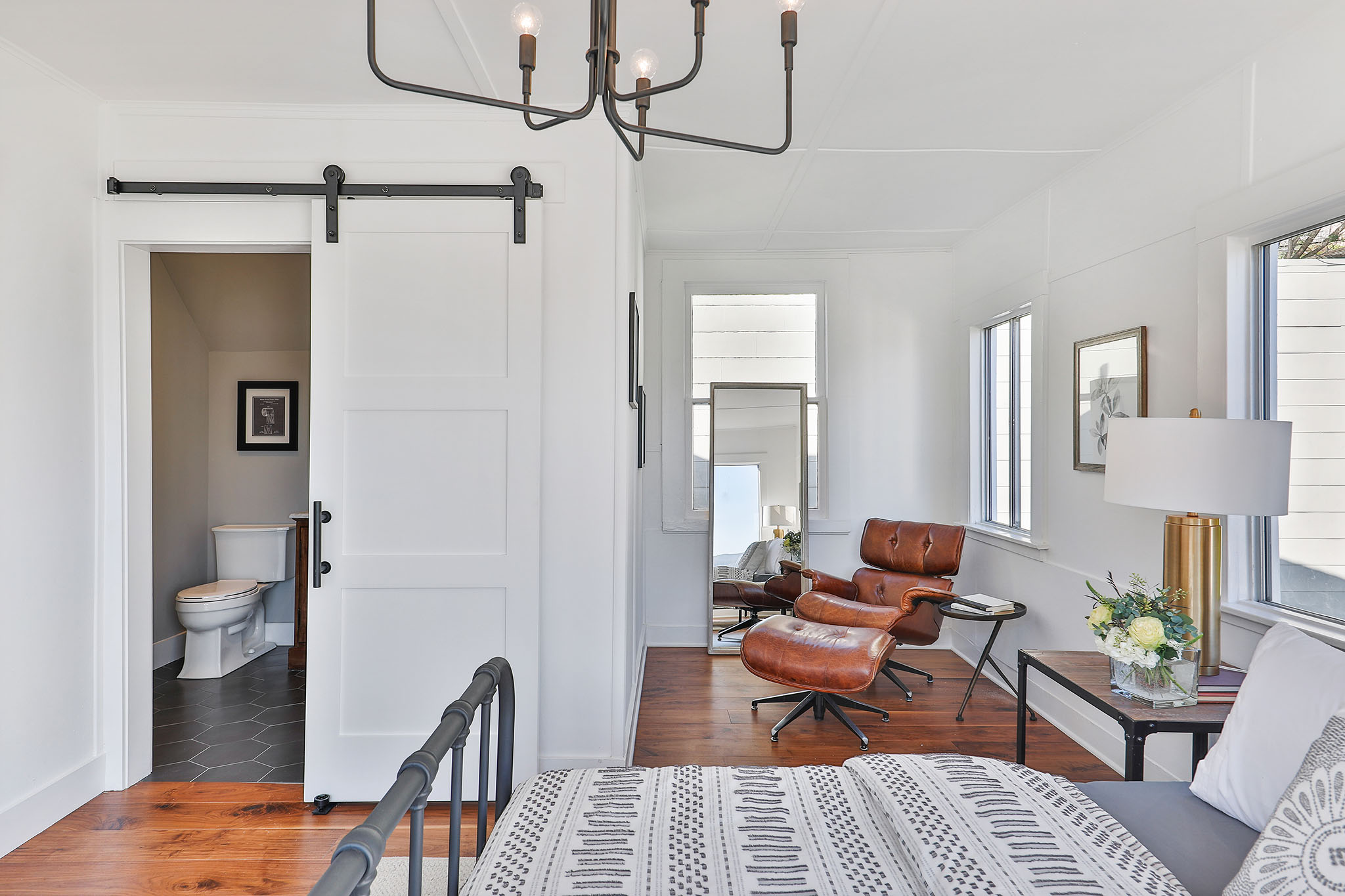 SF Real Estate - Master Bedroom with View into Bathroom