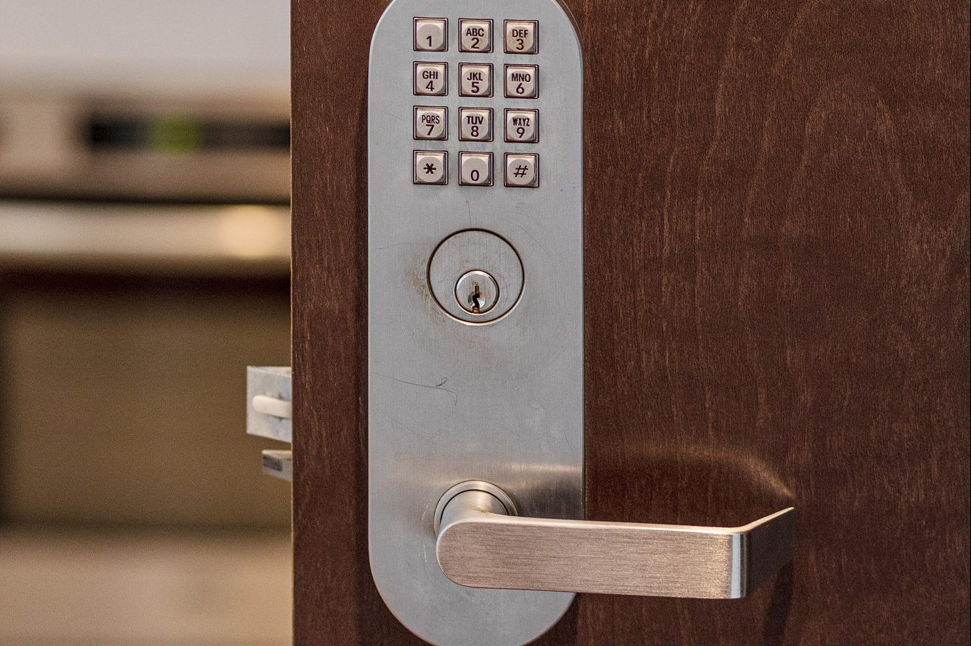 Keypad on front door - SF home for sale