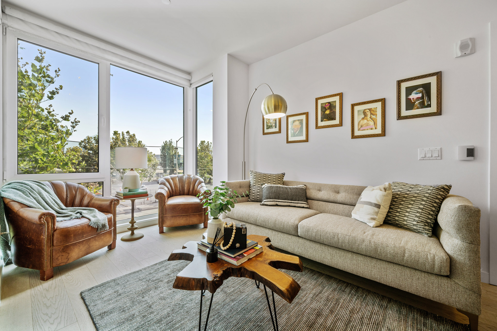 Living Room and Balcony View - SF Apartment